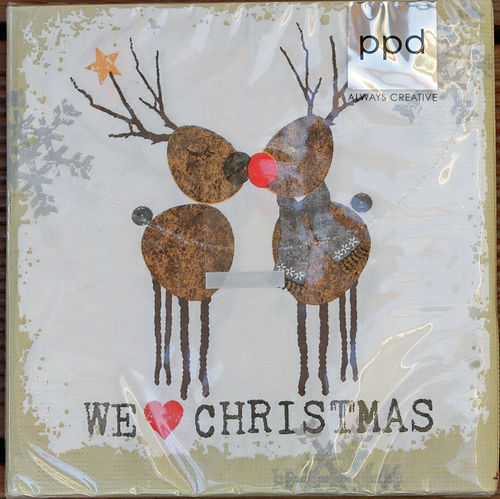 "Servietten ""We love Christmas"""